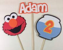 Sesame Street Elmo 3pc. Centerpiece