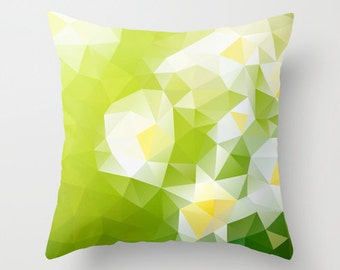 Pillow cover Throw pillow Cushion covers Pillow case Accent pillow Couch pillow Decorative pillows Pattern Pillow Flower Green 16x16 18x18