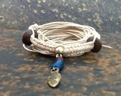 Beaded Friendhip Bracelet with Indian Spear Head Charm
