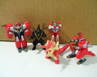 Lot of 5 Superhuman Samurai Syber Squad Pvc Figures, 1994 Vintage Toys Playmates DIC