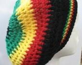 Rastafarian slouch hat. Crochet