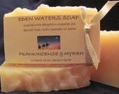 Frankincense & Myrrh all natural handmade cold process soap