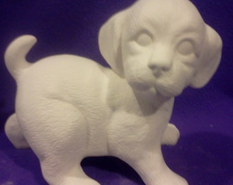 "Scioto 7"" Standing Playful Puppy ready to paint"