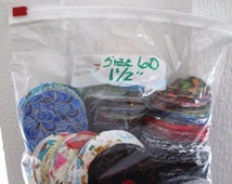 """Size 60  or 1 1/2"""" Cotton Fabric Circles for Fabric Covered Buttons"""