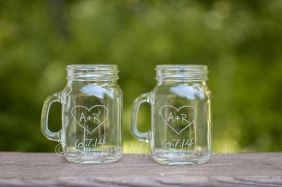 SALE!!!  set of 120 Custom Etched Mini Mason Jar Shot Glass Personalized  Wedding Favor Groom's Men Gift