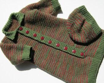 Hand knitted pram set / sleeping bag and hat newborn / reborn