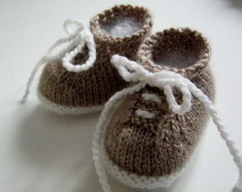 PDF Pattern for Knitted tiny tennis shoes newborn to 6 months