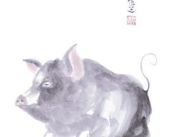 Chinese Zodiac Pig 8x10 print