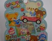 Japan Mind Wave kawaii Bears in Holiday 71pcs stickers flake/75737
