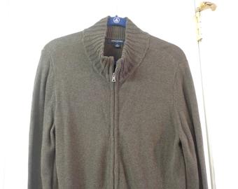 Women's Fall Winter Fashion Warm Brown Sweater Urban Brown Zip Up