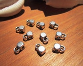 bail connector finding silver color for 3mm leather cord and silk ribbons