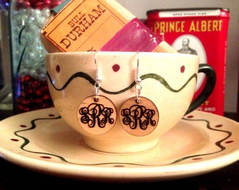 Wooden  Monogrammed Earrings **Ships in 3-5 Days**