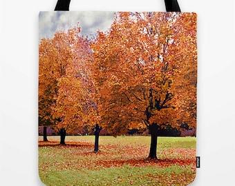 Fall Print, Fall Foliage Print, Autumn Bag, Fall Accessories, Fall Bag, Fall Photo, Fall Trees Print, Fall Scenic Print