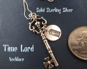 Time Lord necklace Solid Sterling Silver