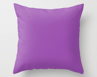 Purpureus Pillow, #9A4EAE, Solid Purple Throw Pillow, Solid Purple Pillow, Purple Pillow, Purple Decor, Minimalist Decor, Minimalist Pillow