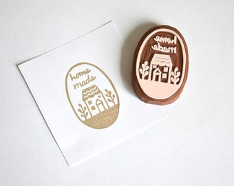 Hand Carved Rubber Stamp / Homemade