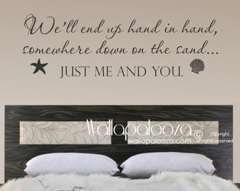 Just Me and You Wall Decal - Love wall decal - Beach wall decal - Beach decal - Wall Decor - Wall Decal - Family Wall Decal