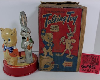 1940's Marx Talking Bugs Bunny and Porky Pig Talking toy