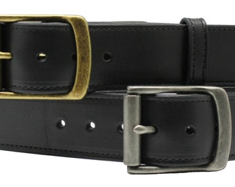 """1 1/2"""" Genuine Leather Belt Solid Buckle NEW"""