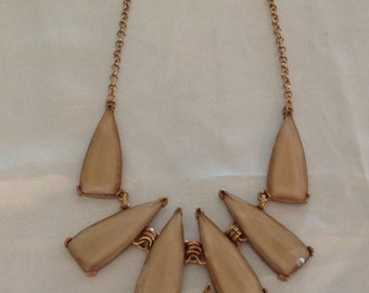 Vintage Stained Glass Drop Bib Necklace