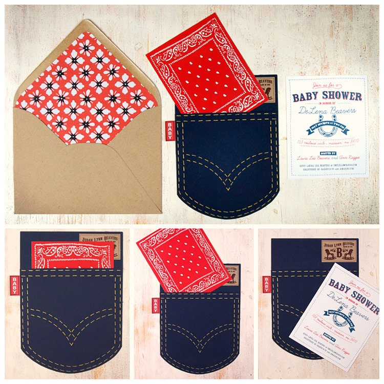 Baby Shower Cowboy Theme: Western Theme Baby Shower Invitation Set By Beetlebumdesign