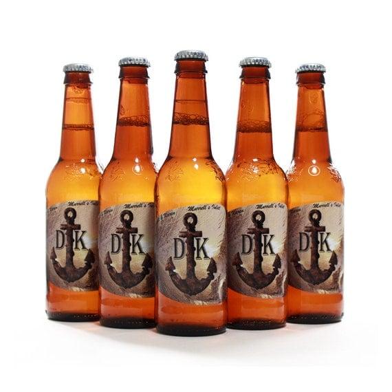 Custom Beer Bottle Labels Personalized Wedding By: Nautical Wedding Beer Bottle Labels Custom Anchor Label
