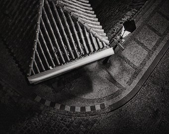 Prague Black And White Photography, Tiles And Cobbelstones, Prague City Details,Below the Charles Bridge, Art Photography
