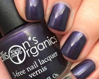 Dark purple nail polish - Vegan Nail Polish - Black nail polish - Dark nail polish - Vegan makeup - Vegan nail polish - Nail art - Goth