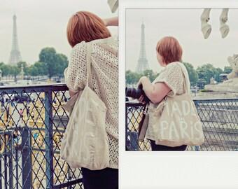 Made in Paris Large Shopper Shoulder Big BAG / Eve Damon