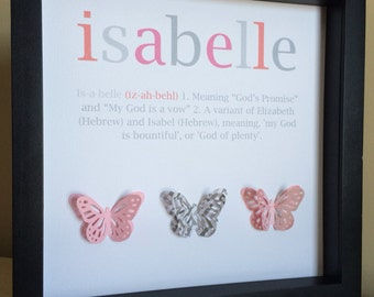 Name Meaning Art, 3D Paper Art, Customize with your colors and theme