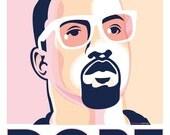 Kanyegram DOPE digital poster, navy + pink PDF