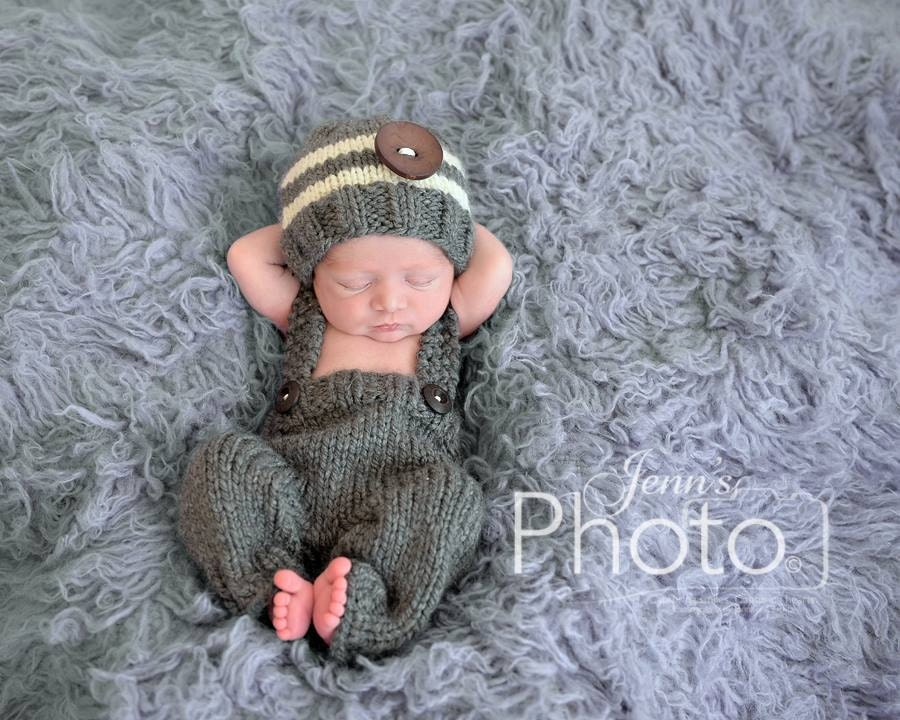 Newborn Photo PropNewborn Knit PantsBaby Boy HatKnit