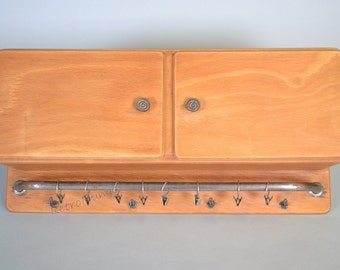 Mid Century fifties kitchen cupboard /  cabinet with towel rack