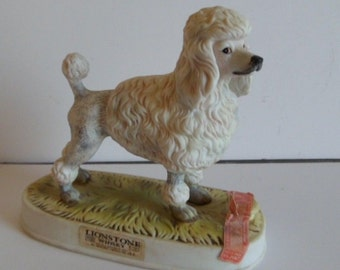 Lionstone French Poodle Decanter Empty
