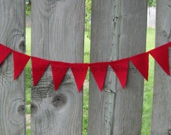 8 Feet - Red Triangle Felt Garland/Bunting