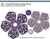 Elizabeth Craft Designs Die #923 - Crystal Flower Overlay Set 2