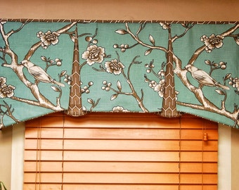 "Custom Valance EMMA Hidden Rod Pocket Valance fits 32""- 44"" window, tailored valance, made with your fabrics, my LABOR and lining"