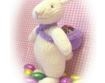 easter white rabbit bunny PDF email knitting pattern alice in wonderland