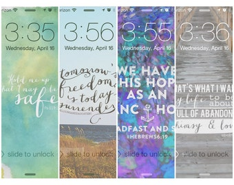 Four Inspirational Screensavers/Wallpaper (Set 1: for iPhone 5)