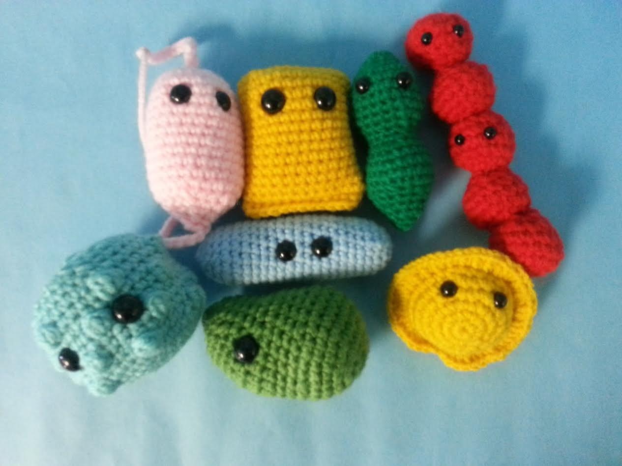 Crochet Amigurumi Collection : Microbe Toy Collection Amigurumi 8 in 1 Crochet Patterns PDF