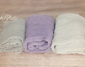 SET of 3 Cheesecloth Newborn Wrap Newborn Baby Wrap Cheesecloth Photography Prop Maternity Photo Props Baby Picture Props Newborn Photo Prop