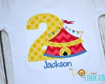 Circus Birthday Shirt Carnival Birthday Shirt Number can be changed