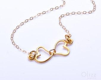 "Infinity ankle bracelet,  infinity heart bracelet, gold infinity anklet, bridesmaid jewelry, bridal,eternity bracelet, love anklet, ""Erotes"""