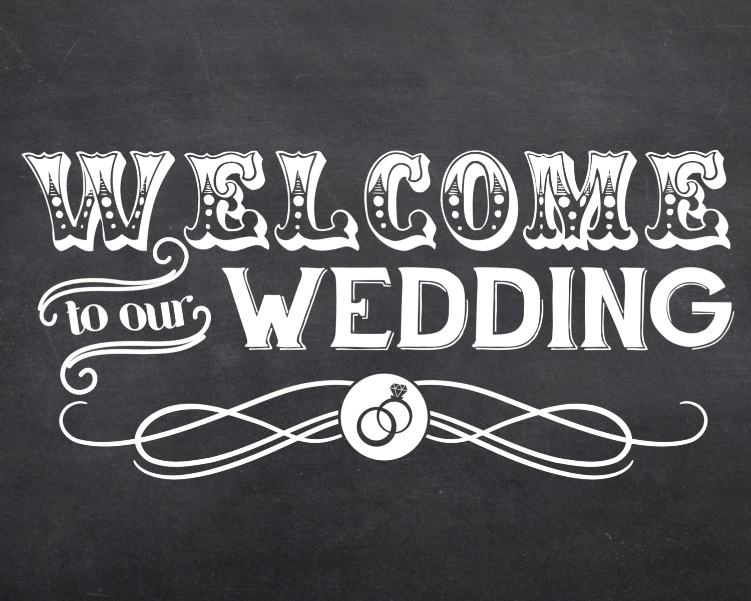 printable wedding welcome to our wedding sign by thepaintedldy. Black Bedroom Furniture Sets. Home Design Ideas