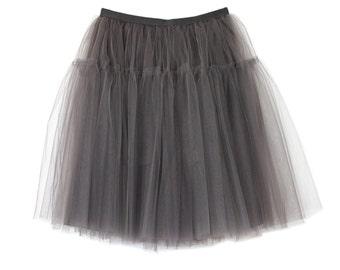 Tulle skirt grey color | engagement | party skirt | bridesmaid | princess | wedding | birthday | gift | elegant | grace kelly | dream skirt