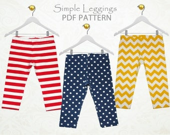 Baby leggings pattern pdf, baby sewing pattern, baby pants pattern, leggings pattern, girls sewing pattern, toddler pattern, BABY LEGGINGS