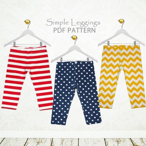 Baby leggings pattern pdf baby sewing pattern baby pants