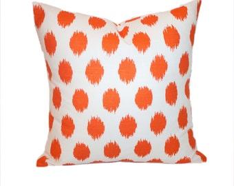 Pair of Pillow Cases 20x20 Orange Decorative Throw Pillows Premier Prints Jo Jo Accent 20 x 20 Pillow Cover