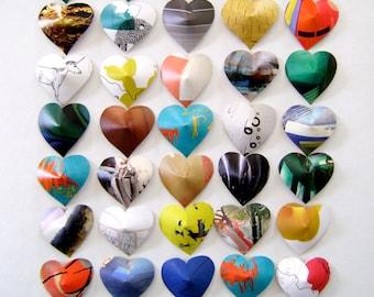 Heart confetti, multicolor, magazine