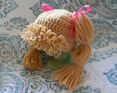 Cabbage patch hair hat wig